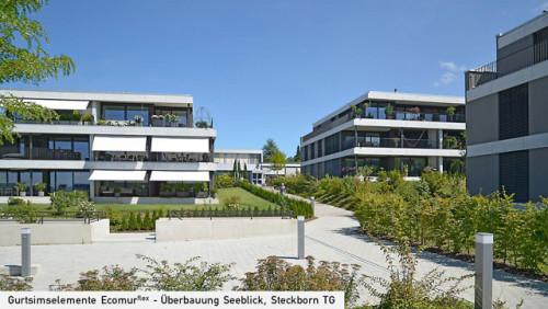Neubau Seeblick 5 MFH, Steckborn – Vorne See hinten Wald